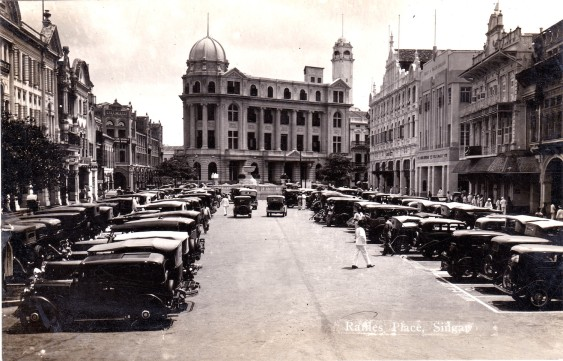 Singapore - Raffles Place in the 1930s.