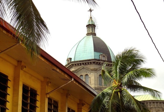 Manila Cathedral and the Headquarters of the Knights of Columbus.