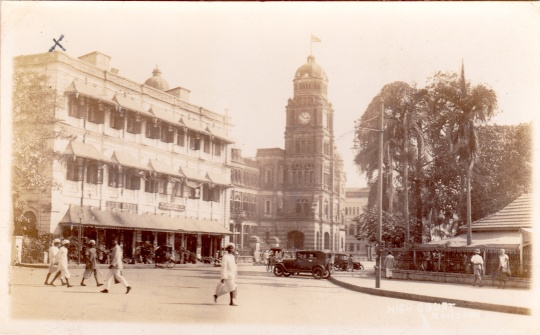 Rangoon City View with the High Court at centre. Collection of the Author.