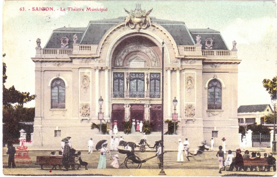 The Municipal Opera House, erected in 1897 and recalling the Paris Opera House.