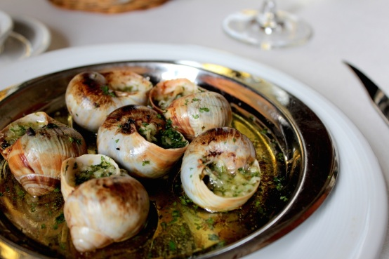 Escargots, at Van's Restaurant.