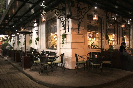 The iconic and fabulous La Terrasse cafe restaurant, at today's Sofitel Legend Metropole Hanoi.