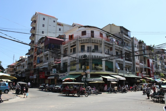 Retro streetscapes in Phnom Penh's Old Town.