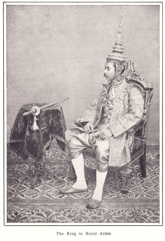 Photograph of King Chulalongkorn from an early 1900s American newspaper.