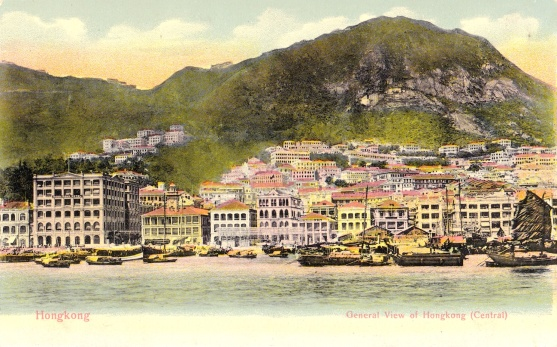 The Hong Kong skyline in the 1890s/1900s.