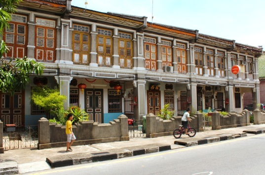 Traditional shophouses along Armenian Street.