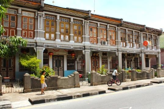 Traditional shophouses along Armenian Street.
