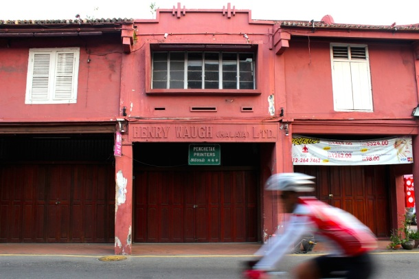 British-era shophouses near the core UNEXCO zone.