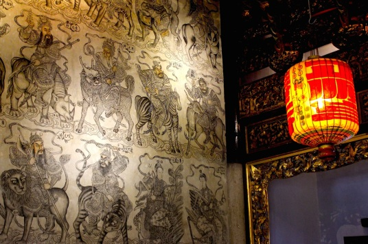 Interior of the Khoo Kongsi Temple.
