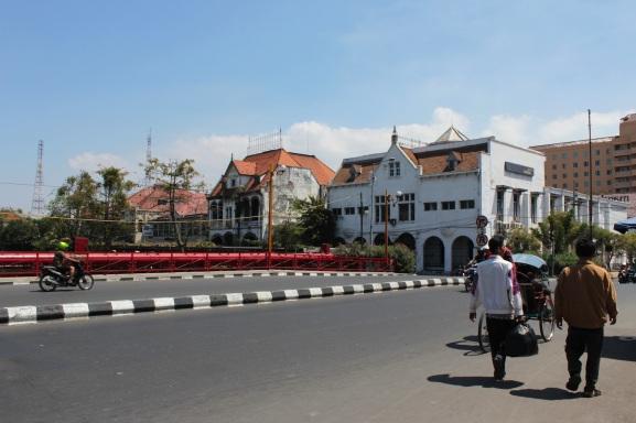 The famous Jembatan Merah, or Red Bridge, is Surabaya's most famous landmark.