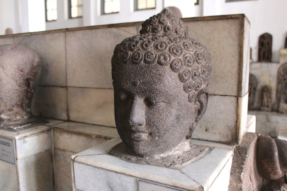 Borobudur Buddha head at the National Museum of Indonesia.