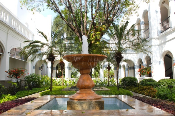 Courtyard garden in the magnificent Hotel Majapahit (formerly Hotel Oranje).