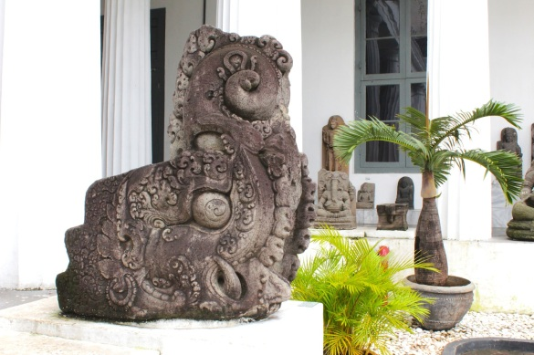 Makara at the National Museum of Indonesia.