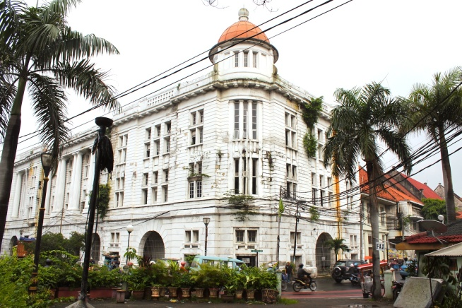 The former Chartered Bank of Australia, China and India, along Jalan Bank.