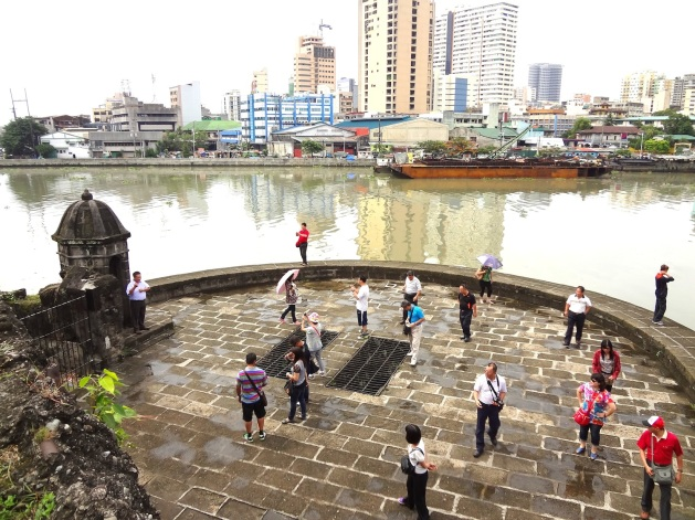 Baluarte, or ramparts over the Pasig River, Intramuros.