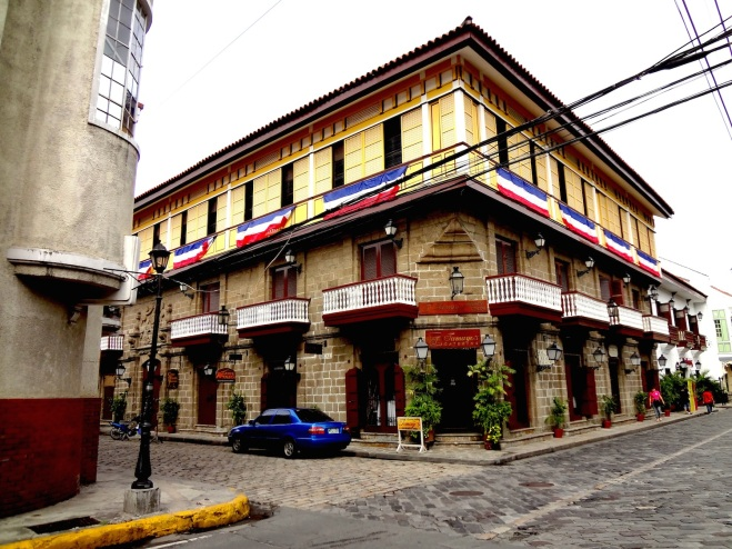 Casa Manila, restored with traditional Hispano-Philippine architecture.