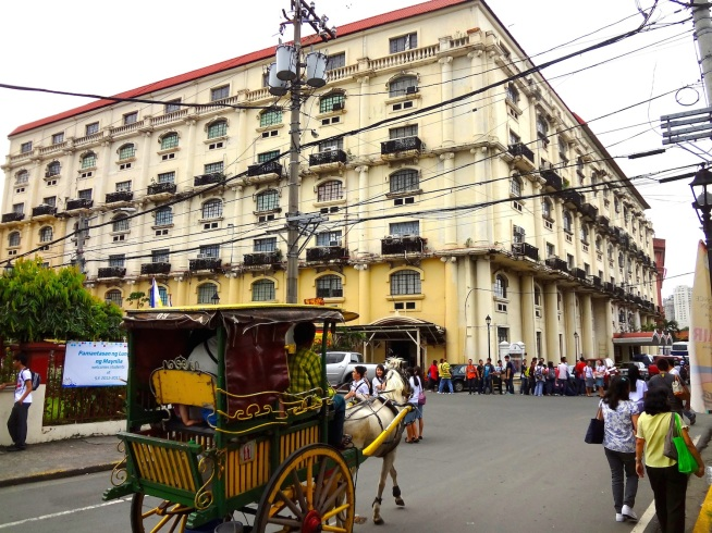 Calesa, or traditional horse-carriage, Intramuros.