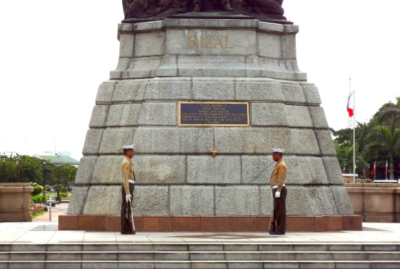 "The Rizal Monument is guarded 24/7 by two ""Knights of Rizal."""