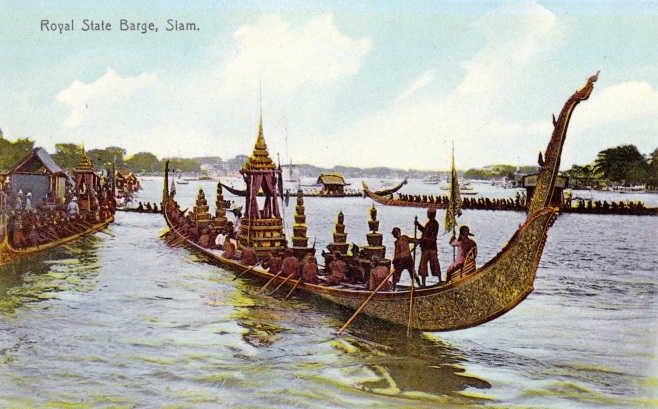 Royal Barge on the Chao Phraya River, Thailand.