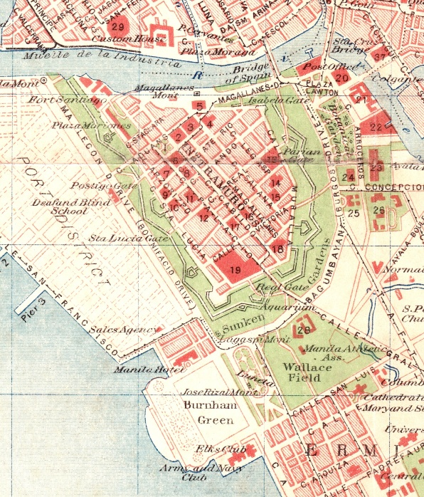 Map of Intramuros, 1917. Private Collection.